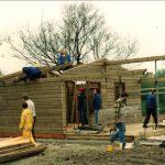 1989 Bau Holzhütte